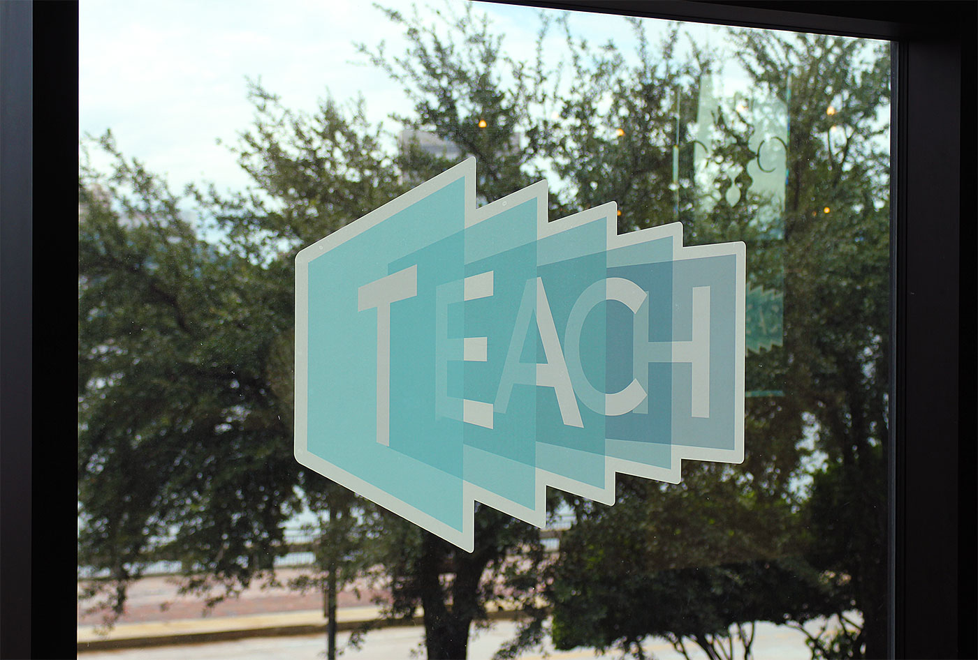 TEACH adhesive decal