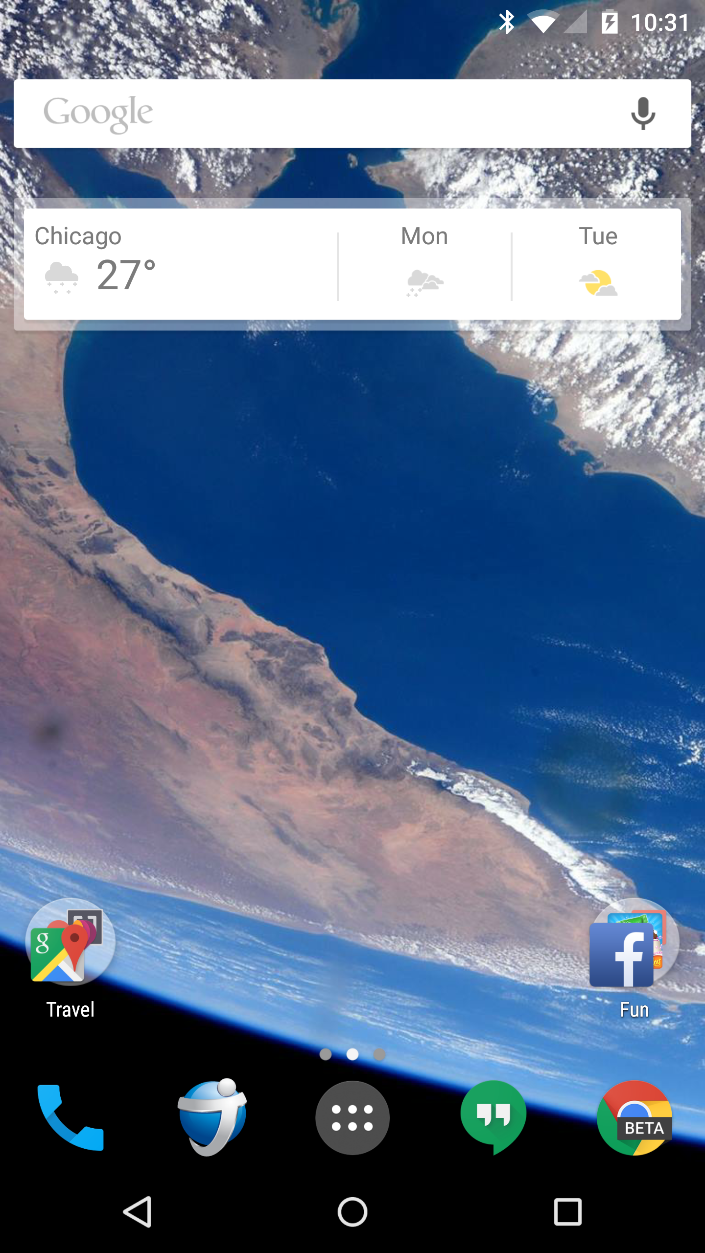 Android NASA wallpaper screenshot