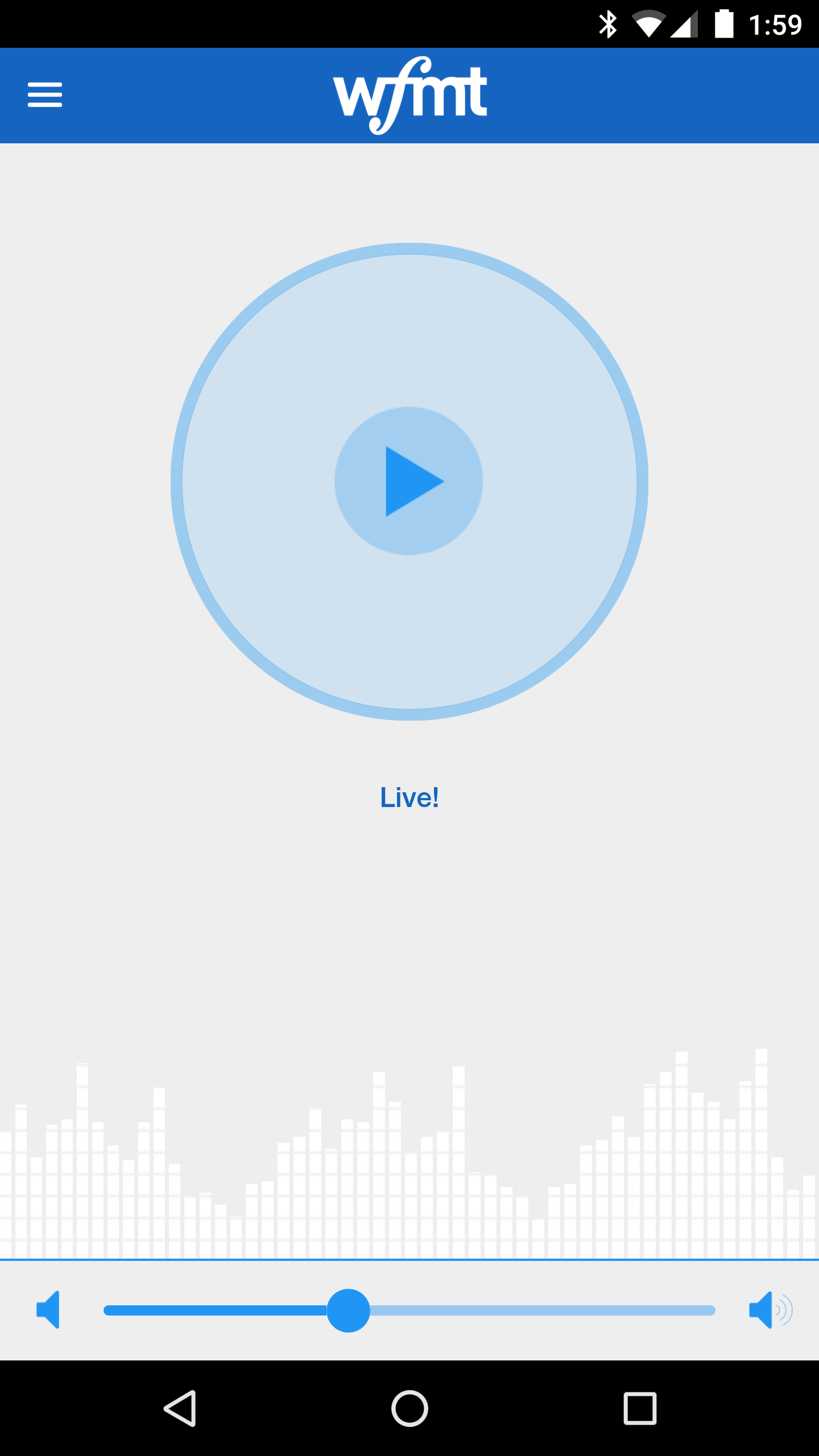WFMT Android app live stream