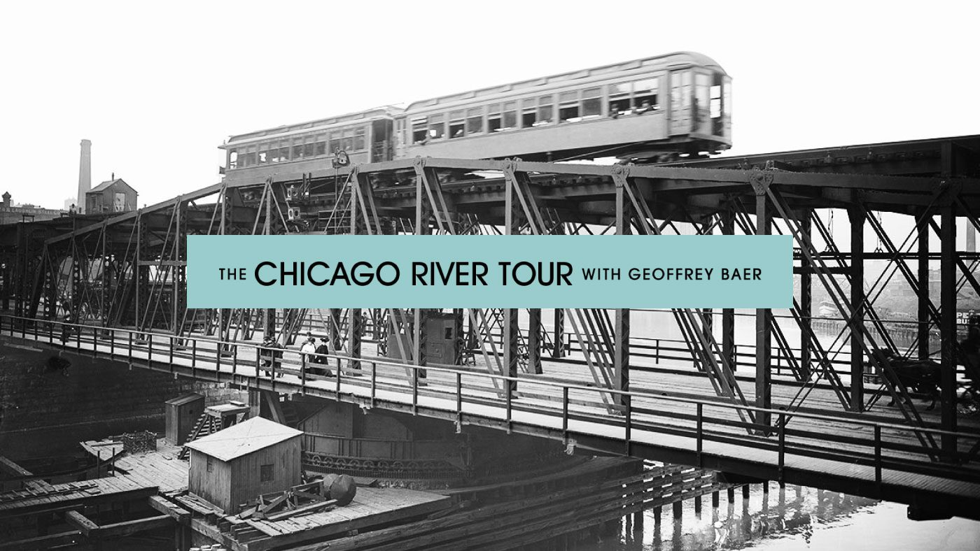 Vintage image of the Chicago River